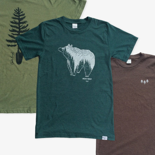Create Forest 3 Tees Pack