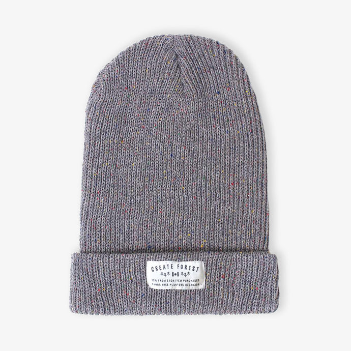 Ribbed Toque - Confetti Charcoal