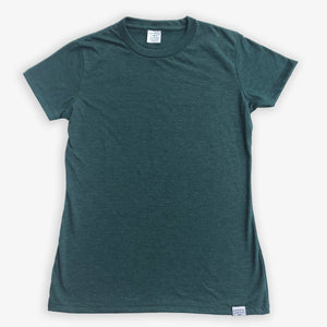 Blank Tee - Women - Heather Green