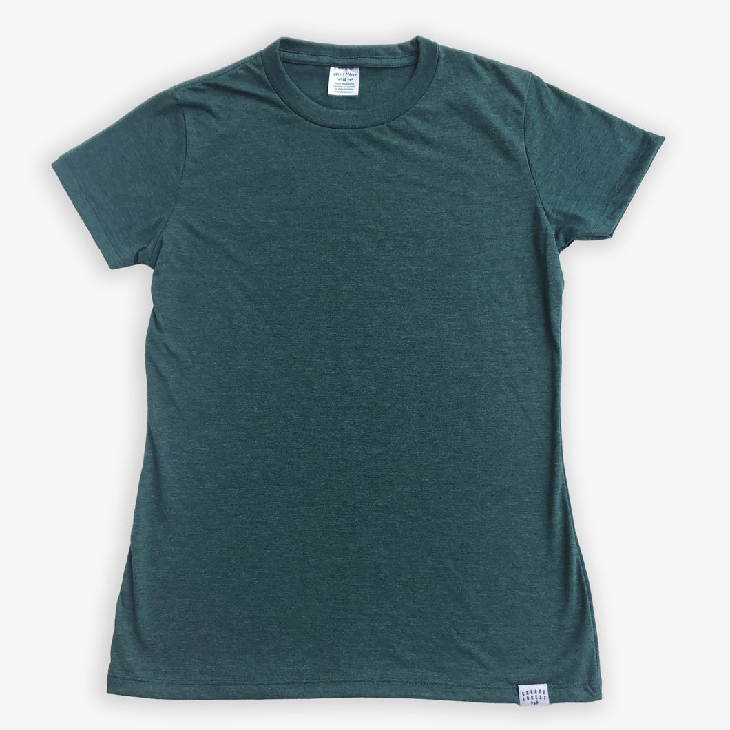 Essential Tee - Women - Heather Green