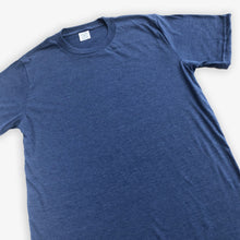 Load image into Gallery viewer, Essential Tee - Unisex - Heather Navy (2 Pack)