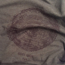 Load image into Gallery viewer, Tree Ring Tee - Heather Brown