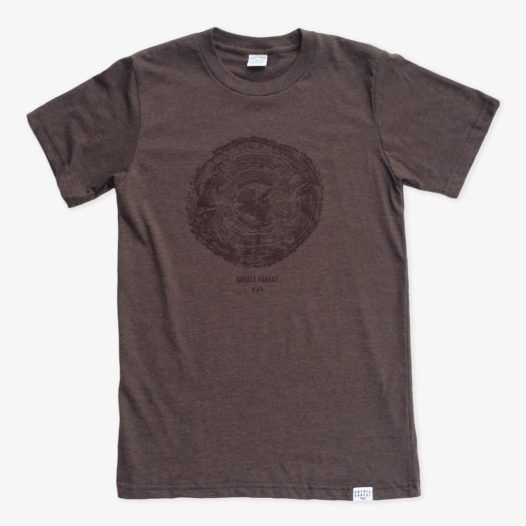 Tree Ring Tee - Heather Brown