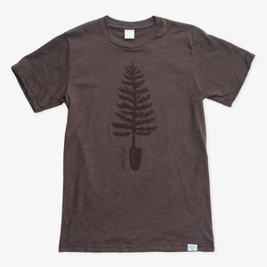Spade Tree Tee - Heather Brown