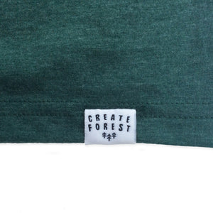 Forest Cabin Tee - Heather Green