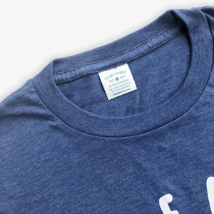Logo Tee - Heather Navy
