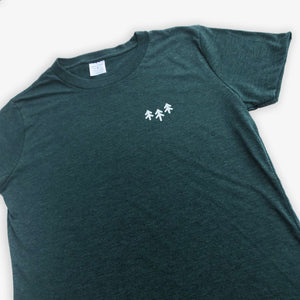 Pocket Trees Tee - Women - Heather Green