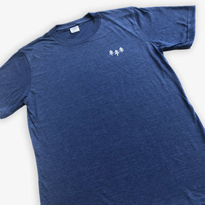 Pocket Trees Tee - Heather Navy