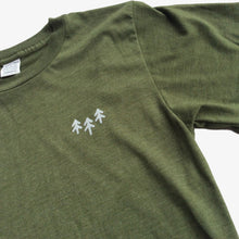 Pocket Trees Tee - Heather Army Green