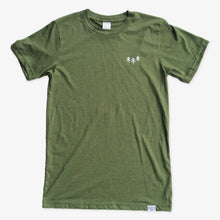Load image into Gallery viewer, Pocket Trees Tee - Heather Army Green