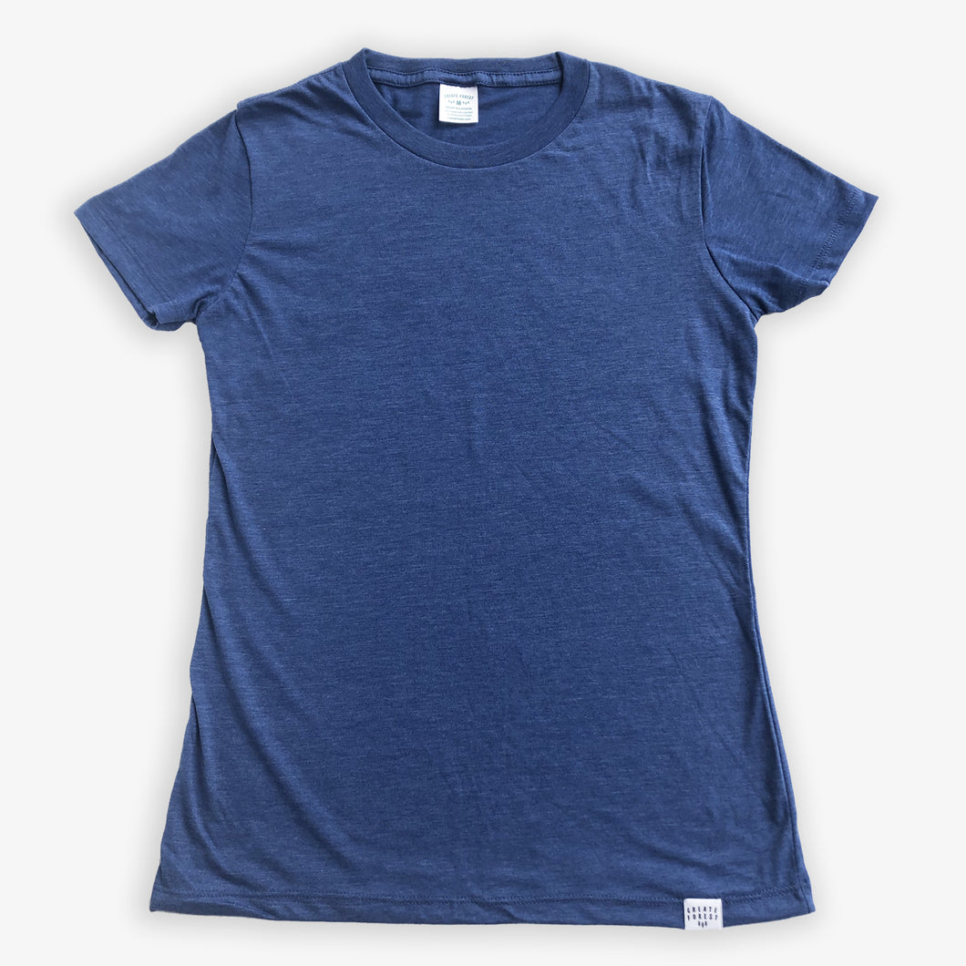 Essential Tee - Women - Heather Navy