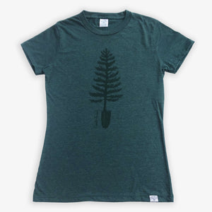 Spade Tree Tee - Women - Heather Green