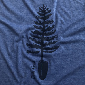 Spade Tree Tee - Heather Navy