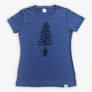 Spade Tree Tee - Women - Heather Navy