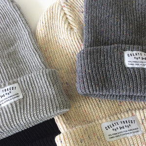 Ribbed Toque - Heather Grey