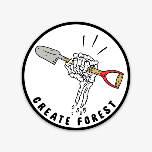 Create Forest Spade Sticker