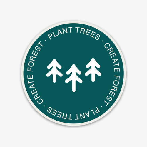 Create Forest Logo Sticker