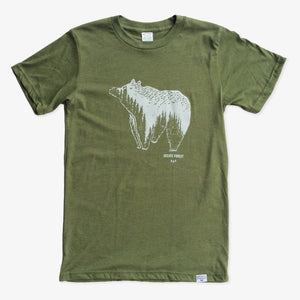 Spirit Bear Tee - Heather Army Green