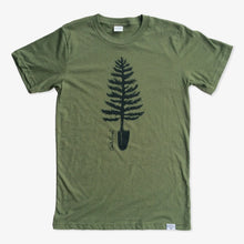 Load image into Gallery viewer, Spade Tree Tee - Heather Army Green