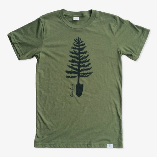 Spade Tree Tee - Heather Army Green