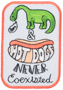 Hot Dog Dino Patch