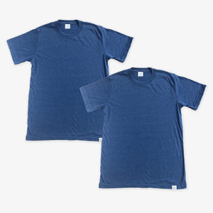 Essential Tee - Unisex - Heather Navy (2 Pack)