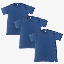 Load image into Gallery viewer, Essential Tee - Unisex - Heather Navy (3 Pack)