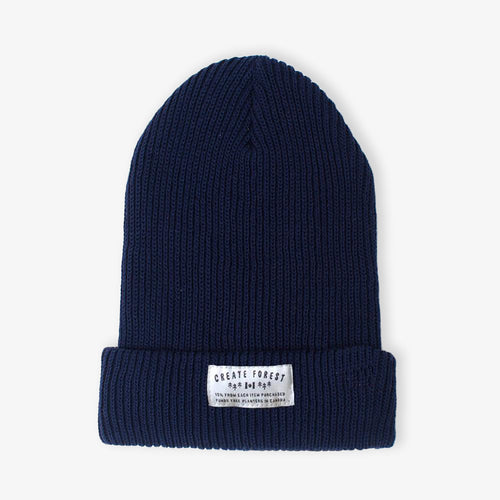 Ribbed Toque - Navy
