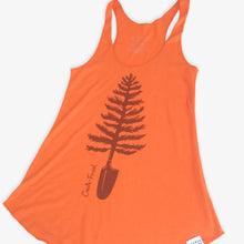 Load image into Gallery viewer, Spade Tree Tank Top - Tangerine