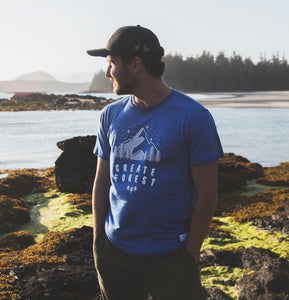 Mountain Tri-Blend Tee - Heather Royal
