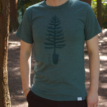 Spade Tree Tee - Heather Green