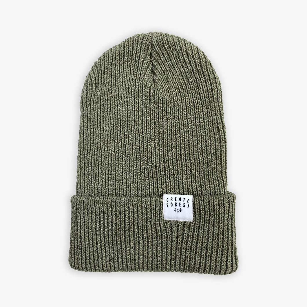 Ribbed Toque - Moss