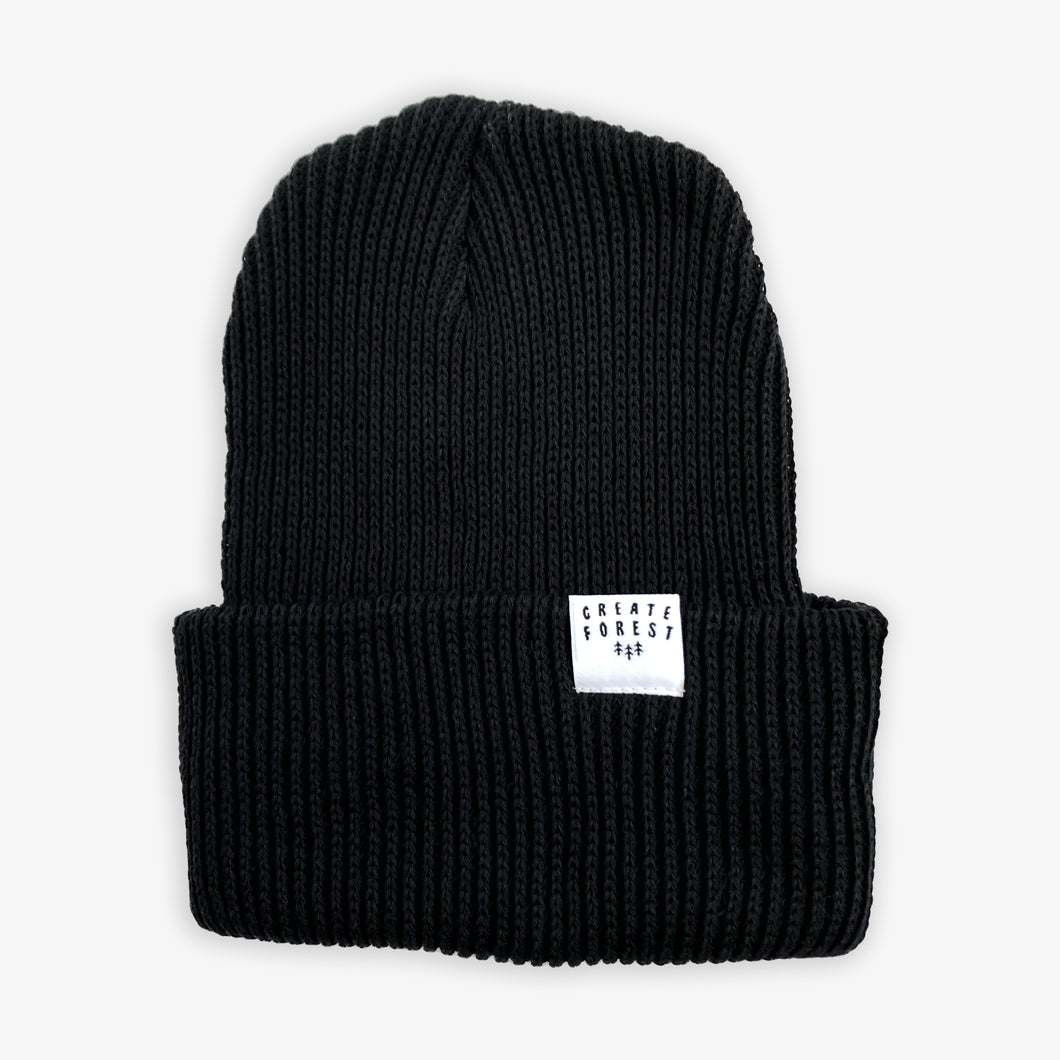 Ribbed Toque - Black