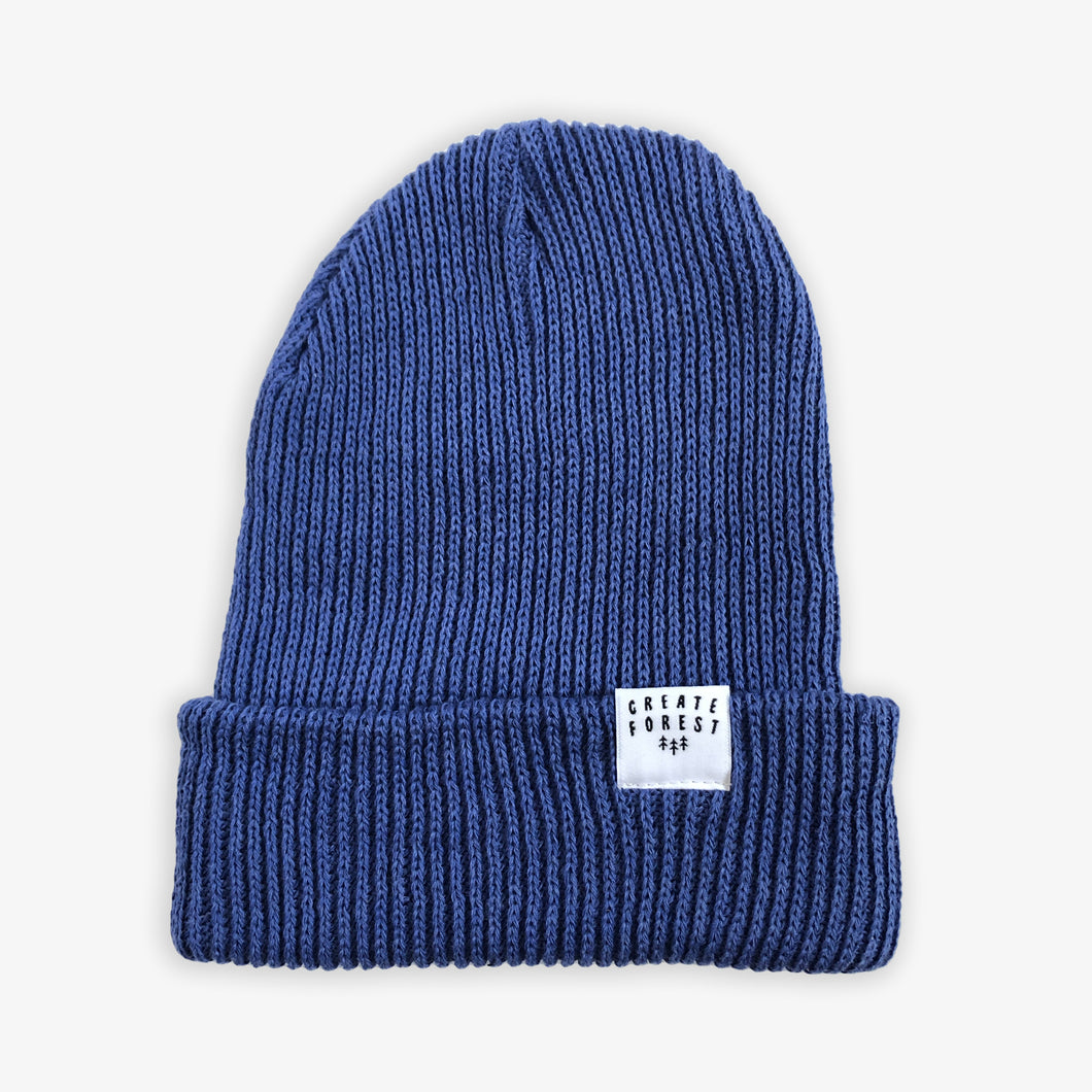 Ribbed Toque - Ocean Blue
