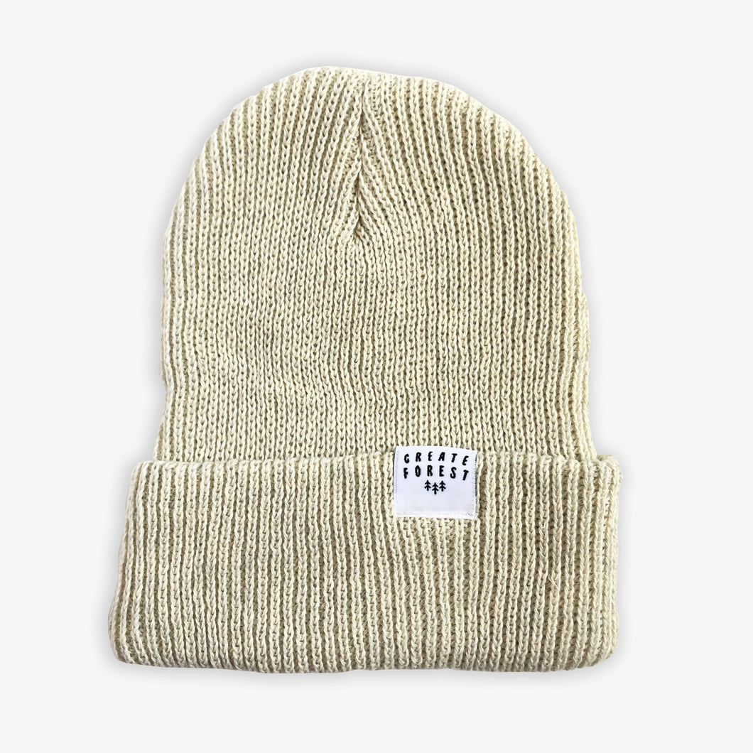 Ribbed Toque - Sand