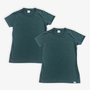Essential Tee - Women - Heather Green (2 Pack)