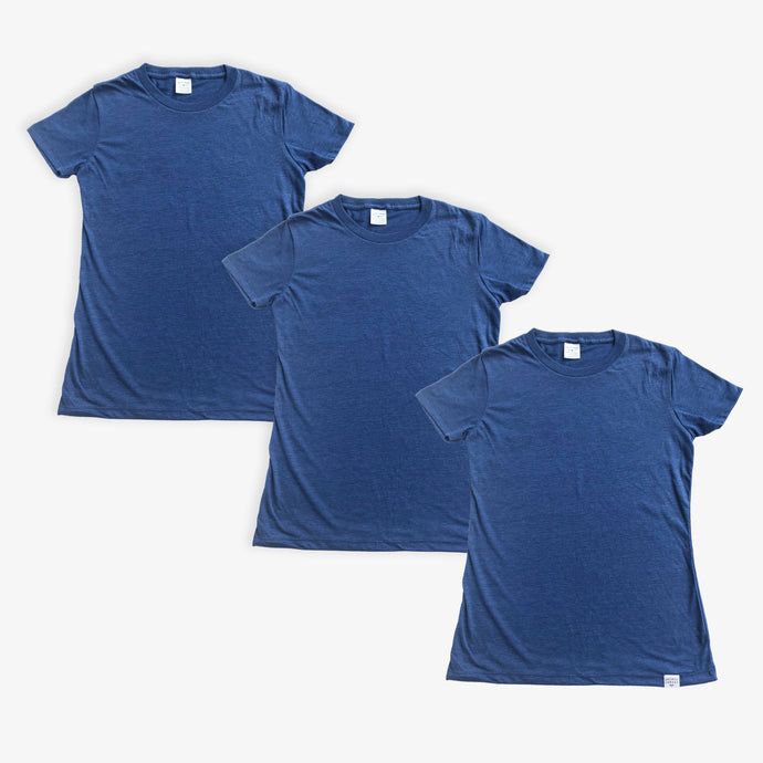 Essential Tee - Women - Heather Navy (3 Pack)