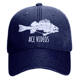 Ace Videos Fish Skeleton Dad Hat