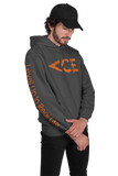 Ace Vintage Orange Logo Hoodie Featuring Level Up In Real Life On The Sleeve