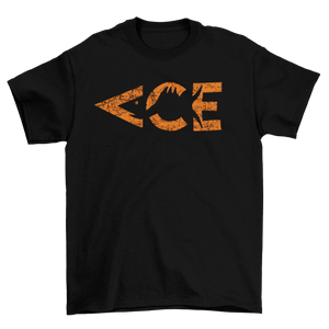 Ace Vintage Orange Logo T-Shirt