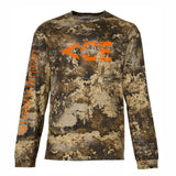 ACE Vintage Orange Logo Long Sleeve  Camo T-shirts , Featuring Level Up In Real Life On The Sleeve
