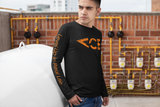 Ace Vintage Orange Logo UV Protection / UPF 50+ Long Sleeve T-shirt, Featuring Level Up In Real Life On The Sleeve