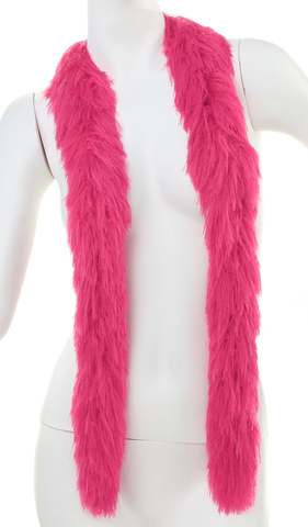 Faux Fur Boa - HOT PINK