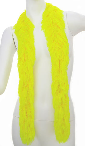 Faux Fur Boa - YELLOW
