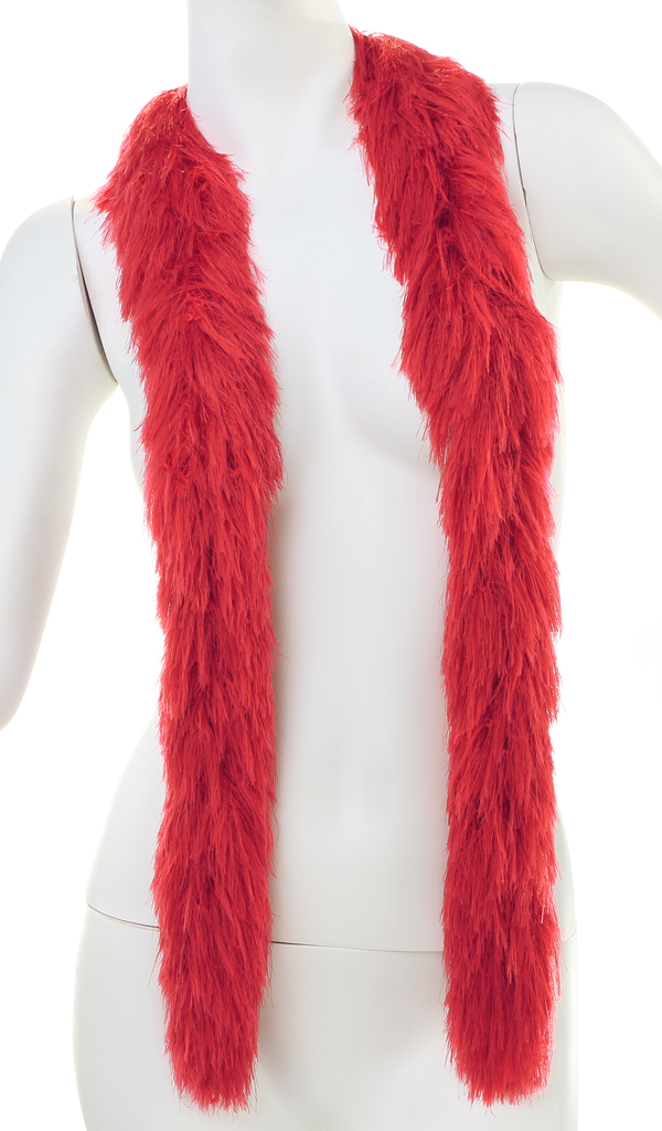 Faux Fur Boa - RED