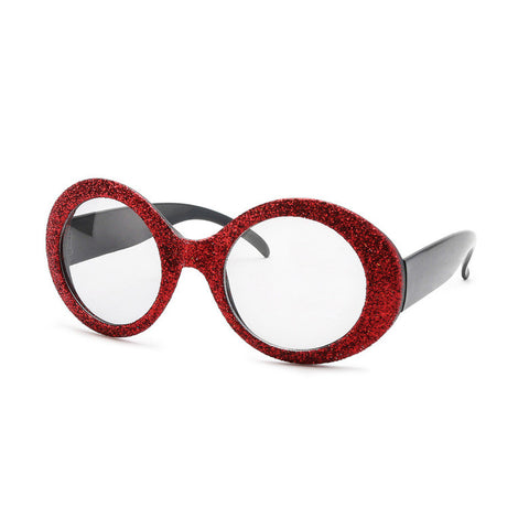 Red Glitter Fun Glasses