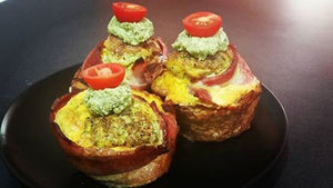 Broccoli Bacon Egg Muffin