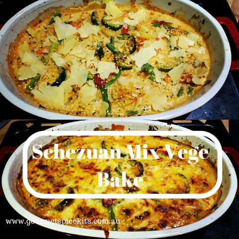 Schezuan Mix Vege Bake Recipe
