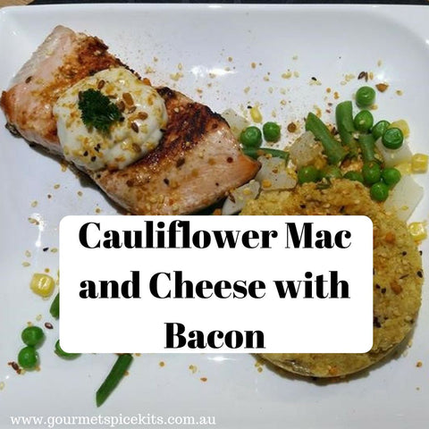 Cauliflower Mac and Cheese with Bacon