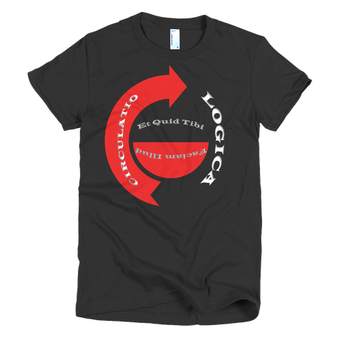 Circulatio Logica Main Logo - Short sleeve women's t-shirt- OG Black